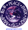 "Peace (in several languages around the Earth) - Button / Pinback (1.5"")"