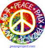 B1121 - Peace in several languages - Button
