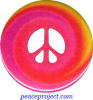 Peace Sign - Multi Colored Swirl - Button