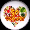 B1208 - Go Vegan - Button