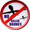 "No Killer Drones - Button / Pinback (1.5"")"