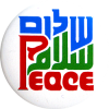 B1227 - Peace in Arabic and English - Button