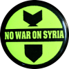 "No War On Syria - Button / Pinback (1.5"")"