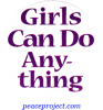 B523 - Girls Can Do Anything - Button