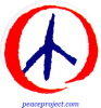 B588 - Red White And Blue Peace Sign - Button