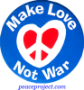 B617 - Make Love Not War - Button