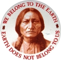 We Belong To The Earth, The Earth Does Not Belong To Us - Button