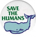 B019 - Save The Humans - Button