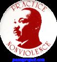B079 - Practice Nonviolence - Button