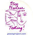 B097 - Stop Nuclear Testing - Button