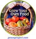 """Grow Your Own Food - Button / Pinback (1.75"""")"""