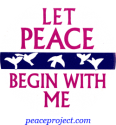B104 - Let Peace Begin With Me - Button