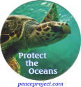 "Protect The Oceans - Button / Pinback (1.75"")"