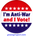 B1146 - I'm Anti-War and I Vote - Button