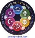 B1159 - Peace Be With You - Button