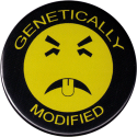 Genetically Modified Yukky Face - Button