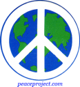 B160 - Peace Sign over Earth - Button