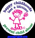 B295 - Happy Childhoods Last A Lifetime, Prevent Child Abuse - Button