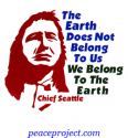 B373 - The Earth Does Not Belong To Us, We Belong To The Earth - Button