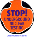 B375 - Stop Underground Nuclear Testing - Button
