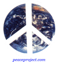 B595 - Peace Sign over Earth - Button