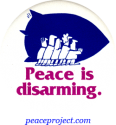 B633 - Peace Is Disarming - Button