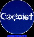 Coexist - Button