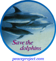 Save The Dolphins - Button