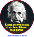 Killing Under The Cloak Of War Is No Different Than Murder - Button