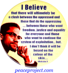 I Believe There Will Ultimately Be A Clash... - Malcom X - Button