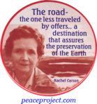 The Road, The One Less Traveled By Offers... - Rachel Carson - Button / Pinback