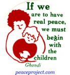 B241 - If We Are To Have Real Peace We Must Begin With The Children - Button