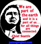 B260 - We Are a Part Of The Earth and It Is a Part Of Us... - Button