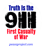 9/11- Truth Is The First Casualty Of War - Button