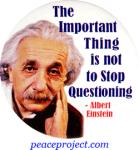 B0796 - The Important Thing Is Not to Stop Questioning - Button