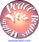 Peace Begins With You - Button