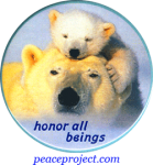 "Honor All Beings - Button / Pinback (2.25"")"