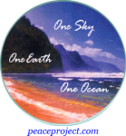 """One Sky, One Earth, One Ocean - Button / Pinback (2.25"""")"""