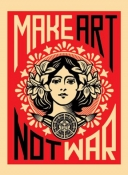 Make Art Not War - Greeting Card