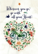 Where Ever You Go, Go With All Your Heart - Greeting Card