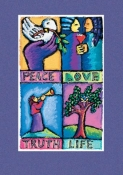 Peace and Love - Holiday Cards