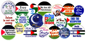 All Middle East Peacemaking Buttons and Stickers on Special Promotion