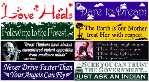 More Timely Full Size Stickers - Dare to Dream, Love Heals and Follow Me to the Forest!