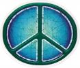 Batik Peace Sign / Symbol - Window Sticker / Decal