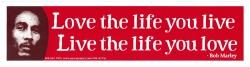 Love The Life You Live, Live The Life You Love - Small Bumper Sticker / Decal (6