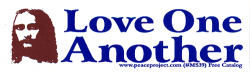 "Love One Another - Jesus - Small Bumper Sticker / Decal (4.25"" X 1.5"")"