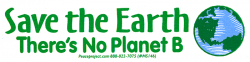 Save The Earth - There's No Planet B - Small Bumper Sticker / Decal