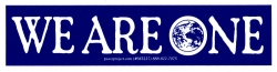 """We Are One - Small Bumper Sticker / Decal (6"""" X 1.5"""")"""