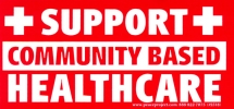 S517 - Support Community Based Health Care - Bumper Sticker