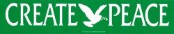"""Create Peace - Bumper Sticker / Decal (10.25"""" X 2"""")"""